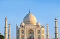 Taj Mahal, Blue sky, Travel to India Royalty Free Stock Photo