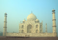 Taj Mahal - famous mausoleum Royalty Free Stock Photo