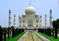 Taj mahal front agra india Stock Photo