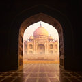Taj mahal indian palace famous religion temple agra india Royalty Free Stock Images