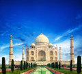 Taj mahal indian palace india agra Royalty Free Stock Photography