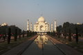Taj mahal is made of white stone i e marble it was built mughal emperor shah jahan in in memory of his beloved late wife mumtaj Stock Photo