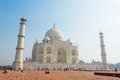 Taj Mahal Mausoleum with clear blue sky, Agra, India. Royalty Free Stock Photo