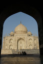 Taj mahal in the morning sun Royalty Free Stock Photography