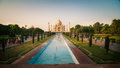 Taj mahal one of the seven wonders of the world mausoleum in evening light arga india Royalty Free Stock Photography