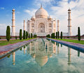 Taj Mahal in sunrise light. Royalty Free Stock Photo