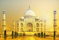Taj mahal sunset india agra Stock Image
