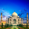 Taj mahal sunset india agra Stock Photos