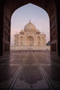 Taj Mahal at sunset Royalty Free Stock Photo