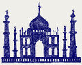 Taj-mahal temple silhouette Royalty Free Stock Photography