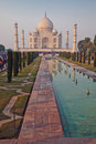 Taj mahal the unisco site of mughal art and one of the seven wonders of the world is a tomb that is the representation Stock Photos