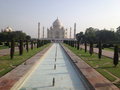 Taj mahal is a white marble mausoleum agra india the located in the city of one of seven wonders of the world Stock Photography