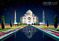 The Taj Mahal. White marble mausoleum on the south bank of the Yamuna river in the Indian city of Agra, Uttar Pradesh