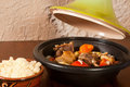 Tajine dish on the table Royalty Free Stock Photos