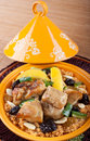 Tajine moroccan food cous cous chicken with lemon confit Stock Photo
