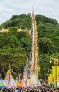 Tak Bat Devo Buddhist ceremony Royalty Free Stock Photo