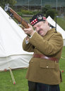 Take aim first world war re enactment enthusiast takes with his rifle Stock Image