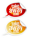 Take away me stickers. Royalty Free Stock Images