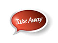 Take away message bubble illustration design over white Royalty Free Stock Photos