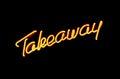 Take away neon sign Royalty Free Stock Photo