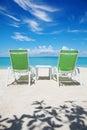 Take a break on paradise beach Stock Photo