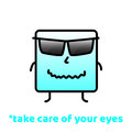 Take care of your eyes. Do Not Forget To Smile. Positive Motivation Vector Design.