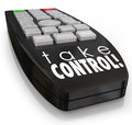 Take Control Remote Assertive Attitude Ambition Confidence Royalty Free Stock Photo