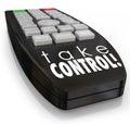 Take Control Remote Assertive Attitude Ambition Confidence Royalty Free Stock Photo