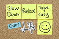 Take it easy relax enjoy life slow down positive messages Royalty Free Stock Photography