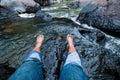 Take a foot soak Royalty Free Stock Photo