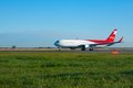 Before take off novosibirsk russia september nordwind airlines boeing spotting at airport tolmachevo sep novosibirsk russia Royalty Free Stock Photography