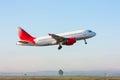 Take-off passenger plane Royalty Free Stock Photo