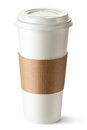 Take-out coffee with cup holder Stock Photography