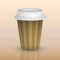 Take out coffee picture of cup eps illustration Royalty Free Stock Images
