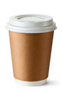 Take-out coffee in thermo cup Royalty Free Stock Photo