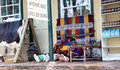 Take a pause those sellers in front of store near johannesburg Stock Photo