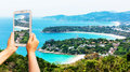 Take photo mountain view at phuket thailand Stock Photo