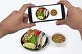 Take photo spicy shrimp paste dip (Nam Prik Kapi in Thai)