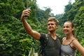 Take Photos. Couple Of Tourist Making Selfie On Vacation. Travel Royalty Free Stock Photo