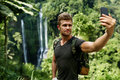 Take Photos. Tourist Taking Selfie On Nature Vacation. Tourism Royalty Free Stock Photo