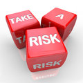 Take a Risk - Roll the Dice Royalty Free Stock Photo