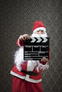 Take two santa invades hollywood with confidence Royalty Free Stock Photography