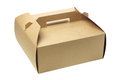 Takeaway cake box on white background Royalty Free Stock Images