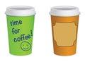 Takeaway coffe cups
