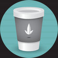 Takeaway coffee cup illustration a vector Stock Image