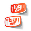 Takeout labels Royalty Free Stock Photo