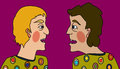 It takes two fools to make an argument comic clown men in Royalty Free Stock Photo