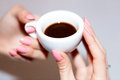 Taking the coffee Royalty Free Stock Photo