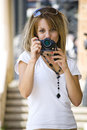 Taking photos Royalty Free Stock Photography