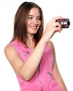 Taking a picture Royalty Free Stock Photo